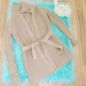 J Crew Tan Cardigan Sweater, Size S
